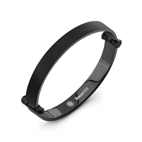 Flat Bangle Bracelet // Black (Small)