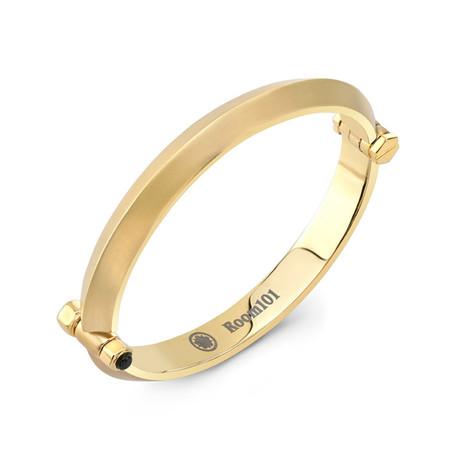 Blade Bangle Bracelet // Gold Plated