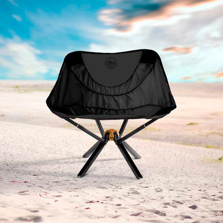 CLIQ CHAIR- The Bottle-Sized Portable Chair (Black)