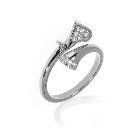 Bulgari Diva's Dream 18k White Gold Diamond Ring // Ring Size 6.75 // Store Display