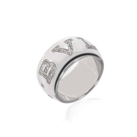 Bulgari 18k White Gold Diamond Ring // Ring Size: 6