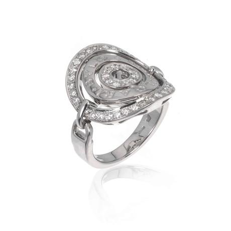 Bulgari 18k White Gold Astral Diamond Ring // Ring Size: 6.25