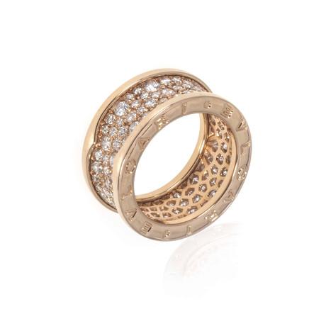 Bulgari 18k Rose Gold B Zero Diamond Ring // Ring Size: 6