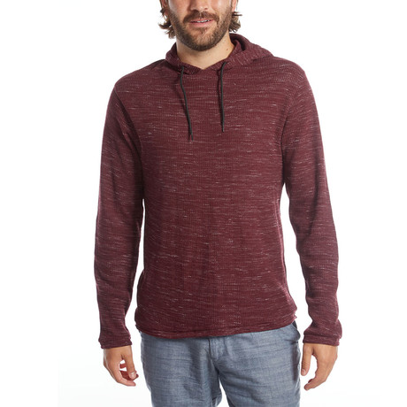 Andres Waffle Pullover // Burgundy (S)