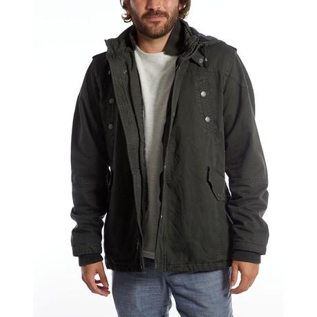 Zach Long Cotton Jacket // Dark Charcoal (S)