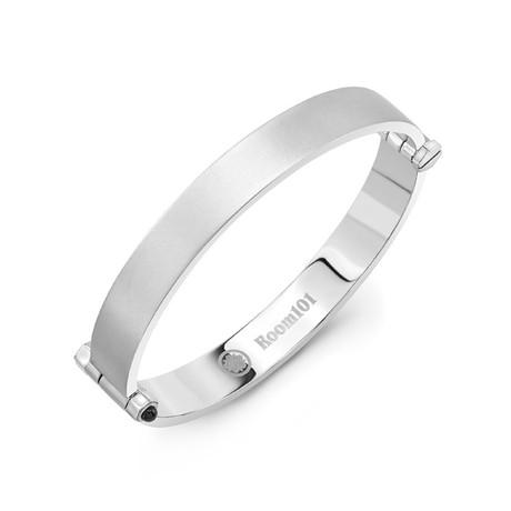 Flat Bangle Bracelet // Matte Silver (Small)