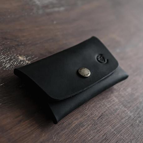 Double Closure Wallet // Black