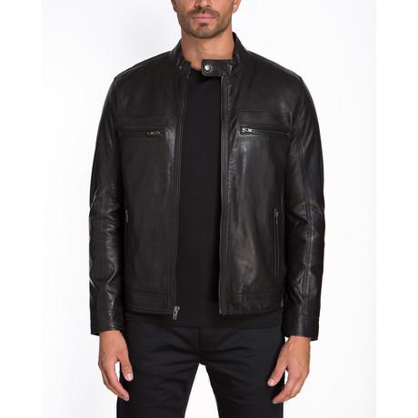 Copenhagen Double Chest Zip Jacket // Black (S)
