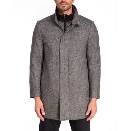 Aix Zip + Snap Front Coat // Gray Twill (S)