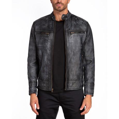Rome Double Chest Zip Jacket // Gray Cloud (S)
