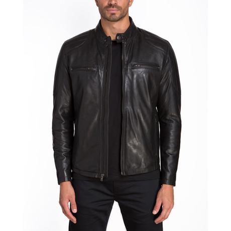 Athens Double Chest Zip Jacket // Black (S)