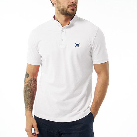 David Short Sleeve Polo // White (S)