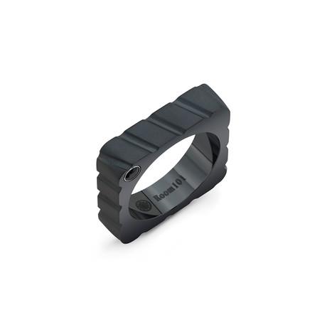 Truck Striped Square Ring // Black Titanium (6)