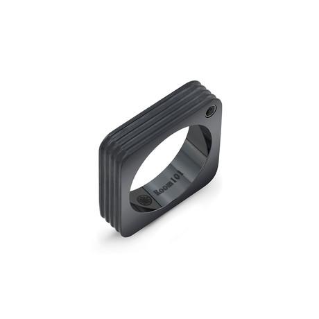 Striped Square Ring // Black Titanium (6)