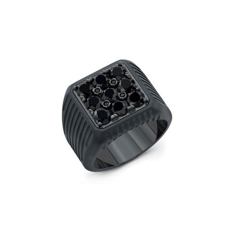 Striped Onyx Ring // Black Titanium (6)