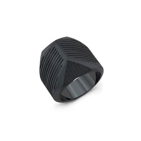 Striped Talon Ring // Black Titanium (6)