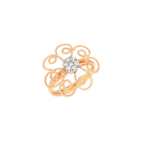 Roberto Coin 18k Two-Tone Gold Diamond Ring // Ring Size: 6
