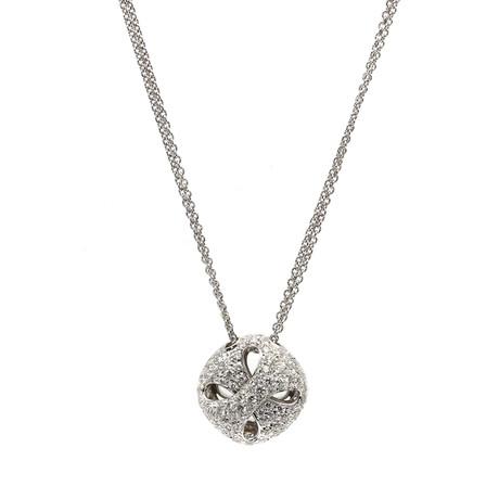 Damiani 18k White Gold Diamond Necklace I // Store Display