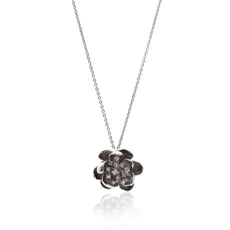 Piero Milano 18k White Gold Diamond Necklace IV // Store Display