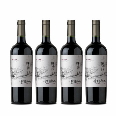 92 Point Herencia Trabajo Argentinian Malbec // Set of 4