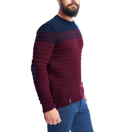 Textured Sweater // Bordeaux (S)