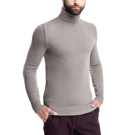 Turtle Neck Sweater // Cappuccino (S)