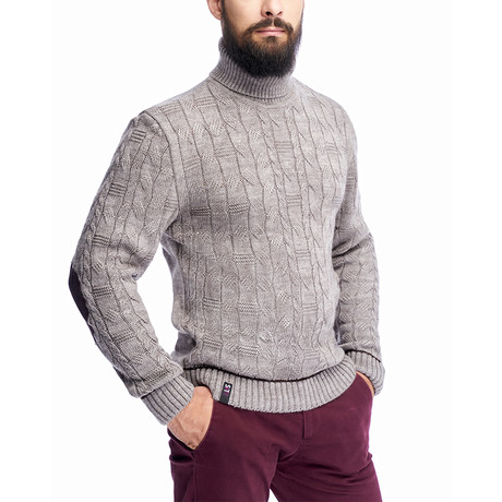 Sweater + Elbow Patches // Cappuccino (S)