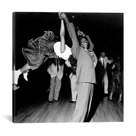 "Couple Dancing at Savoy Ballroom, Harlem, 1947 // Rue Des Archives (12""W x 12""H x 0.75""D)"