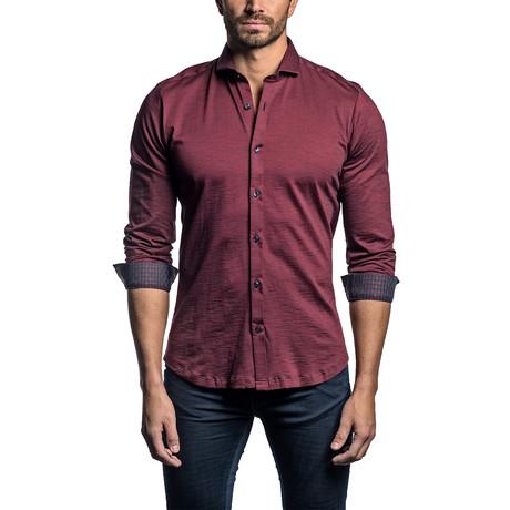Ken Long Sleeve Shirt // Burgundy (S)