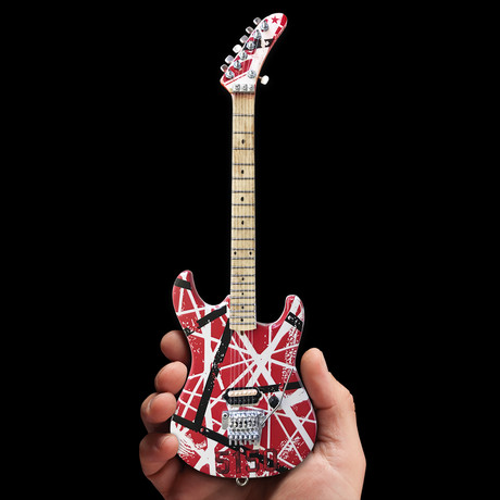 Eddie Van Halen // EVH Striped 5150 Miniature Guitar Replica