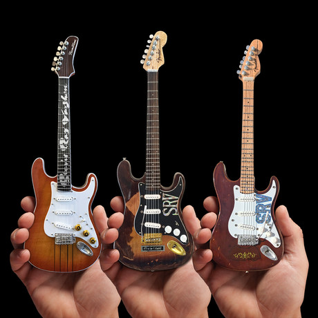 Stevie Ray Vaughan // SRV Set of 3 Miniature Guitar Models Collection // Officially Licensed Fender
