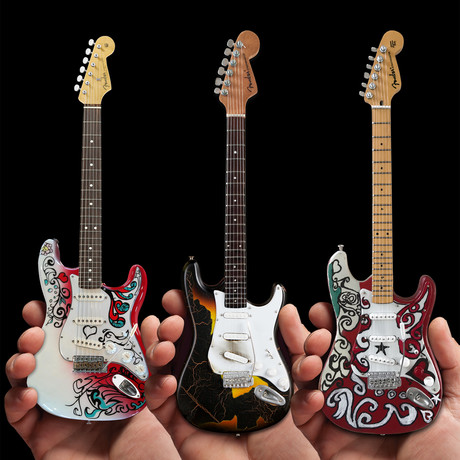 Jimi Hendrix // Signature Fender™ Strat™ Mini Guitar Collection // Set of 3