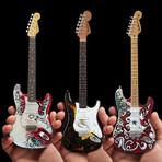 Jimi Hendrix // Signature Fender™ Strat™ Mini Guitar Collection // Set of 3