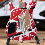 Eddie Van Halen // EVH Striped 5150 Miniature Guitar Replica // Officially Licensed
