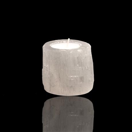 Selenite Candle Holder // Ver. 1
