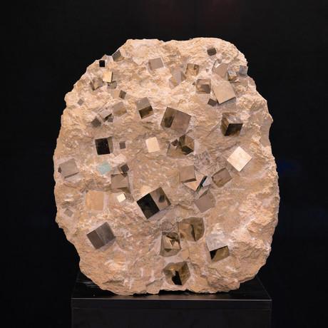 Pyrite Cubes in Matrix