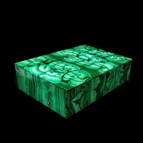 Malachite Handcrafted Gem Box
