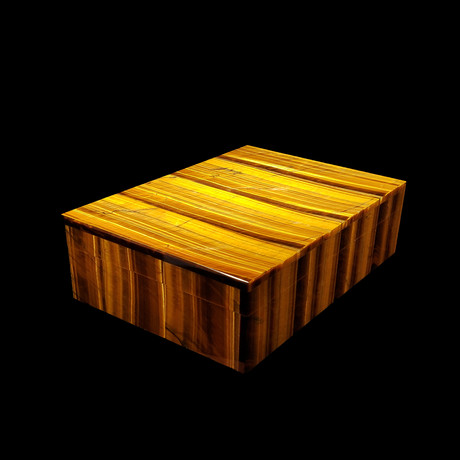 Tiger Eye Handcrafted Gem Box