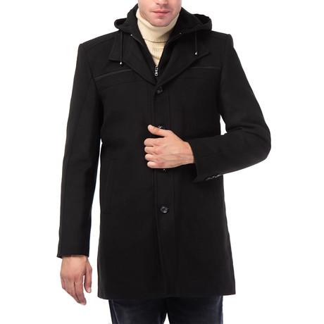 Amsterdam Overcoat // Black (Small)