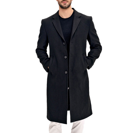 Prague Overcoat // Black (Small)