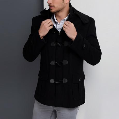 Milan Overcoat // Black (Small)