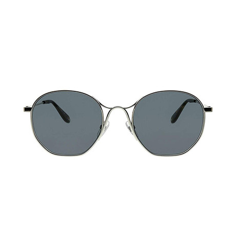Givenchy // Men's Round Sunglasses // Palladium Silver + Gray
