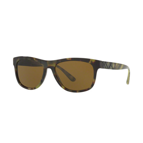 Burberry // Men's Classic Sunglasses // Green Havana + Brown