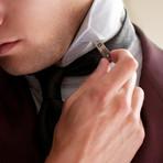 Brass Adjustable Collar Stays + Tin Case