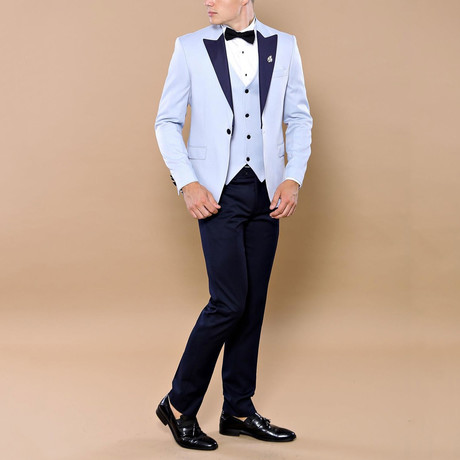 David 3-Piece Tuxedo // Light Blue (Euro: 44)