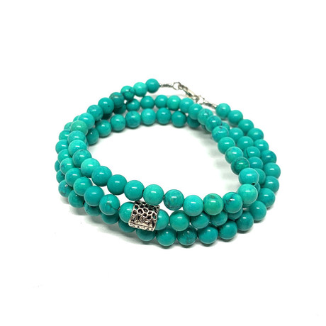 Healing Stone 2-In-1 Necklace + Wrap Bracelet // Turquoise (S)