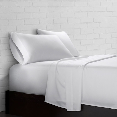Super Soft Triple Brushed Microfiber Sheet Set // White (Twin)