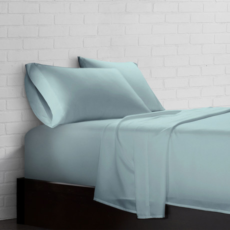Super Soft Triple Brushed Microfiber Sheet Set // Aqua (Twin)