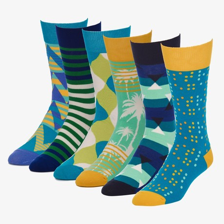 Freestyle Vision Crew Sock // Pack of 6