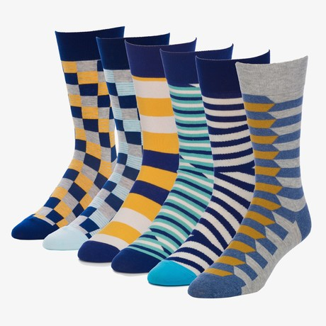 Mirror Challenger Crew Sock // Pack of 6